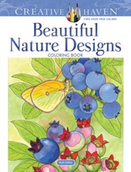 Beautiful Nature Designs Coloring Book