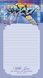 With God, All Things Are Possible Magnetic Notepad