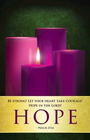 Hope Advent Sunday 1 Bulletins, Pack of 50