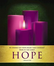 Hope Advent Sunday 1 Large Bulletins, Pack of 50