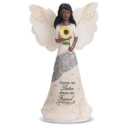 Forever My Sister, Always My Friend, Ebony Angel Figurine
