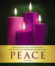 Peace Advent Sunday 4 Large Bulletins, Pack of 50