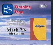 Saxon Math 7/6 Teaching Tape Full Set DVDs, 4th Edition