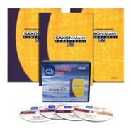 Saxon Math 8/7, 3rd Edition Home Study Kit & Teaching Tape Technology DVD Set Bundle
