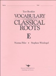Vocabulary from Classical Roots Tests Book E
