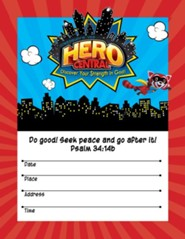 VBS 2017 Hero Central: Discover Your Strength in God! - Small Promotional Poster