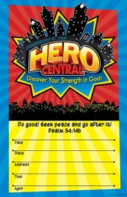 VBS 2017 Hero Central: Discover Your Strength in God! - Large Promotional Poster