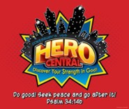 VBS 2017 Hero Central: Discover Your Strength in God! - Large Logo Poster