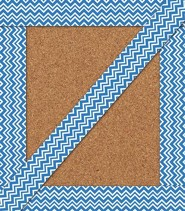 Super Power Blue Chevron Straight Border, Grades PreK-8