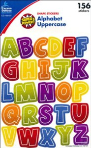 Super Power Alphabet Uppercase Stickers, Grades PreK-5