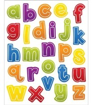 Super Power Alphabet Lowercase Stickers, Grades PreK-5