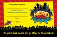 VBS 2017 Hero Central: Discover Your Strength in God! - Leader Recognition Certificates (Pkg of 10)