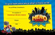 VBS 2017 Hero Central: Discover Your Strength in God! - Student Certificates (Pkg of 50)