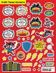 VBS 2017 Hero Central: Discover Your Strength in God! - Craft Theme Stickers (Pkg of 12)