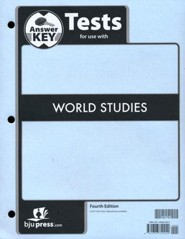 World Studies Grade 7 Tests Answer Key (4th Edition)