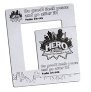 VBS 2017 Hero Central: Discover Your Strength in God! - Hero Magnetic Frame (Pkg of 12)  -