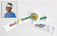 VBS 2017 Hero Central: Discover Your Strength in God! - Color-Your-Own Tie-On Headbands (Pkg of 12)
