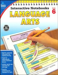 Interactive Notebooks Language Arts, Grade 6