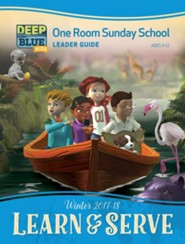 Deep Blue: One Room Sunday School Leader Guide, Winter 2017-18