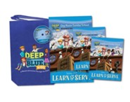 Deep Blue Kids Learn & Serve One Room Sunday School Kit Spring 2018: Ages 3-12