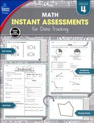 Math Instant Assessments for Data Tracking, Grade 4