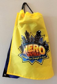 VBS 2017 Hero Central: Discover Your Strength in God! - Drawstring Backpack with Cape