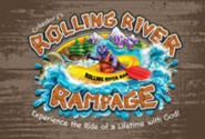 Rolling River Rampage: Invitation Postcards (Pkg of 24)