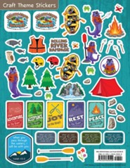 Rolling River Rampage: Craft Theme Stickers (Pkg of 12)