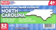 State Study Cutouts: North Carolina (Package of 32)