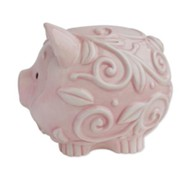 Dedicated to the Lord Piggy Bank, Pink