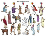 Hero Central: Bible Story Activity Stickers, pkg of 6