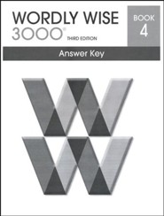 Wordly Wise 3000 3rd Edition Answer Key Book 4
