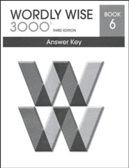 Wordly Wise 3000 3rd Edition Answer Key Book 6 (Homeschool  Edition)