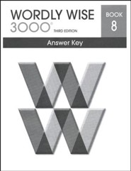 Wordly Wise 3000 3rd Edition Answer Key Book 8 (Homeschool  Edition)