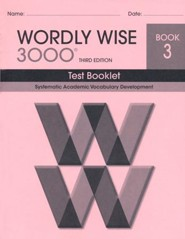 Wordly Wise 3000 Book 3 Test 3rd Ed.