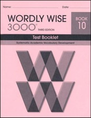 Wordly Wise 3000 Book 10 Test 3rd Ed.