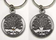 Mustard Seed Pewter-Finished Keyring