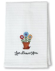 Love Grows Here Waffle Weave Towel