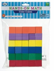 Hands-On Math Foam Color Cubes, 30 Pieces