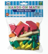 Hands-On Math Pattern Blocks, 49 Pieces