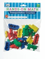 Hands-On Math Transportation Counters, 24 Pieces