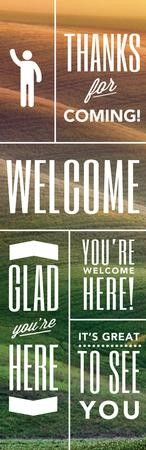 Phrases of Welcome Vinyl Banner