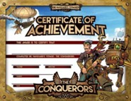 The Conquerors VBS 2016: Achievement Certificate, pack of 25