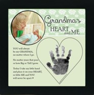 Grandma, Hand In Heart Photo Frame