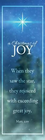 Christmas of Joy Vinyl Banner (2 x 6)