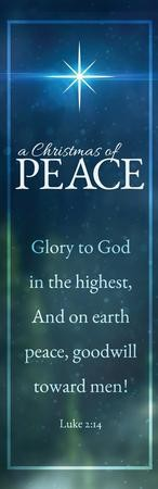 Christmas of Peace Luke 2:14 Vinyl Banner (2 x 6)