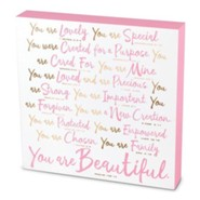 You Are Beautiful Plaque