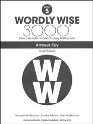Wordly Wise 3000 Book 5 Key (4th Edition; Homeschool  Edition)