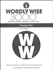 Wordly Wise 3000 Book 6 Key (4th Edition)