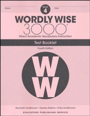 Wordly Wise 3000 Book 4 Tests (4th Edition)